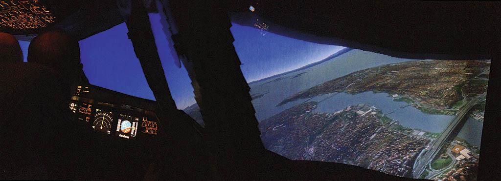 Краєвид з вікна авіасимулятора не відрізниш від справжнього